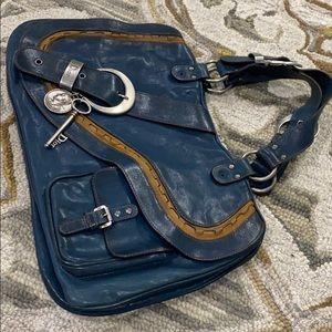 Dior Bags - 💕 Christian Dior Gaucho blue tan saddle bag 💕